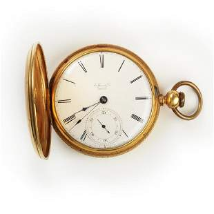 E. Howard & Co. 18k Yellow Gold Pocket Watch.