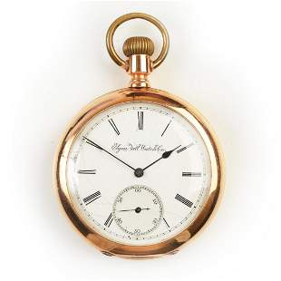 Elgin National Watch Co. 14k Pink Gold Pocket Watch.