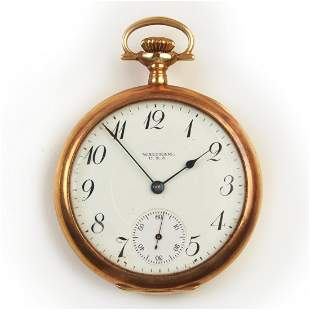 Waltham 14k Yellow Gold Pocket Watch.