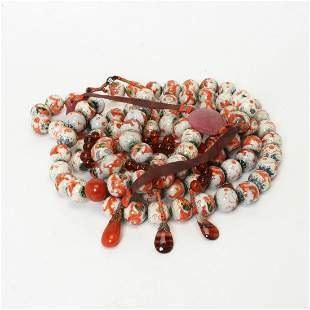Large Mandarin Necklace, Chaozhu.