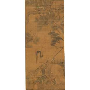Chinese Painting of Pine and Crane.