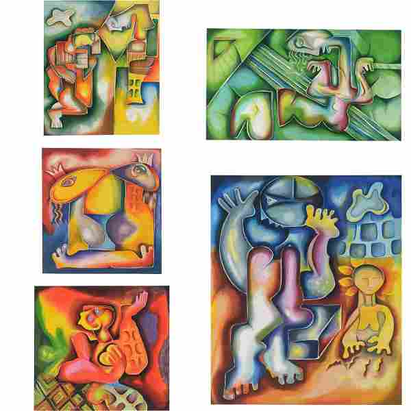Alexandria Nechita, Reflections Suite, 6 Lithographs in
