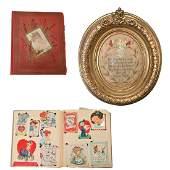 Lot of Victorian Paper Ephemera Including Scrapbooks