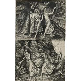 """(lot of 2) Geralid Brockhurst, """"In the Wood,"""" and """"The"""