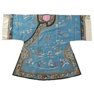 Chinese Blue-Ground Lady's Informal Robe.