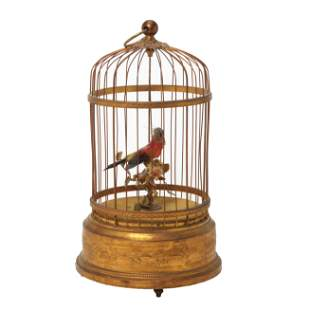Singing Bird in Brass Cage Automaton