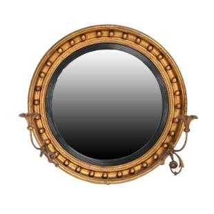 Regency Style Giltwood Bull's Eye Convex Girandole