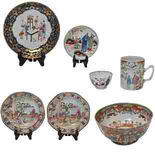 Group of Chinese Export Porcelain Dishes and Bowls