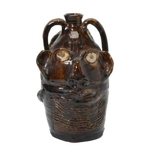 Marie Rogers Stoneware Face Jug