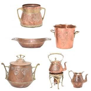 Arts and Crafts and Art Nouveau Copper Articles.