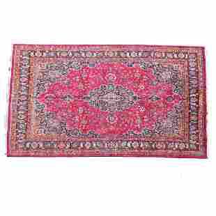 Semi-Antique Indo-Persian Wool Rug.