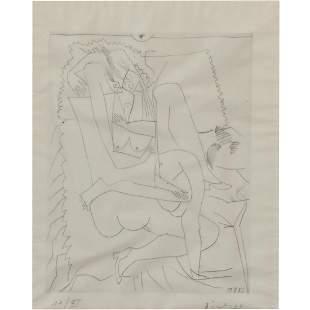 """Pablo Picasso """"Le Couple"""" etching"""