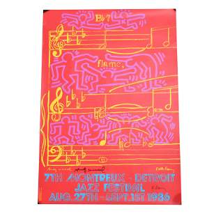 """Andy Warhol and Keith Haring """"7th Montreux-Detroit Jazz"""