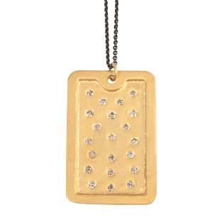 Diamond, Vermeil Pendent Necklace.