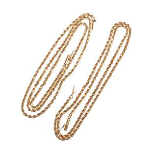 Collection of Two 14k Yellow Gold Chains.