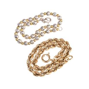 Collection of Two 14k Gold Bracelets.