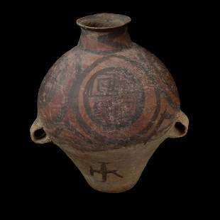 Chinese Neolithic Painted Pottery Jar.