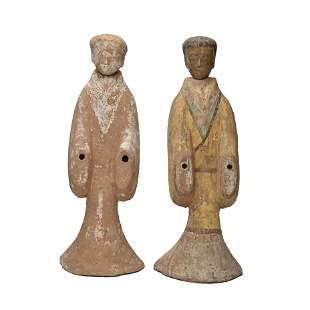 Pair of Burial Pottery Figures.