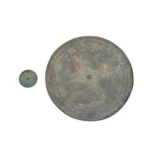 Two Chinese Circular Bronze Mirrors.