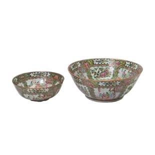 Two Large Chinese Canton Export Bowls.