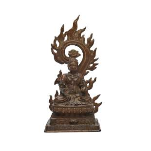 A Sino-Tibetan Bronze Wrathful Buddha Figure