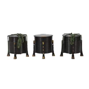Three Japanese Footed Lacquered Boxes.