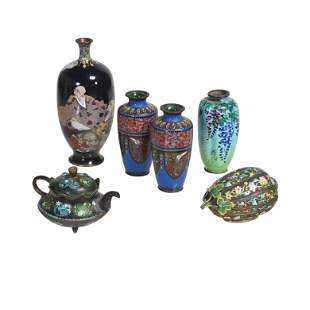 Group of Japanese Cloisonne Items.