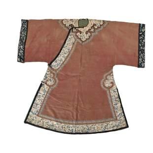 Chinese Chestnut-Ground Lady's Informal Robe.