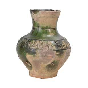 Green Glazed Han Dynasty Pottery Vase