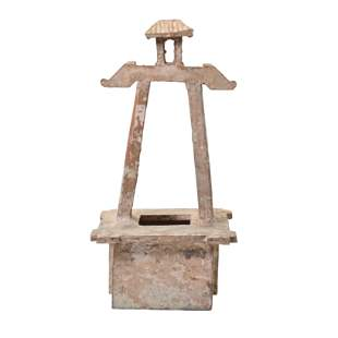Han Dynasty Pottery Model of a Well.