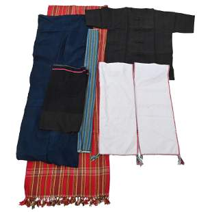 Six Southeast Asian Burmese Padaung Long Neck Tribe,