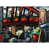 "Richard Morhous ""Span"" acrylic on paper"