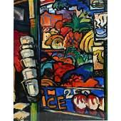 """Richard Morhous """"Corner"""" acrylic on paper"""
