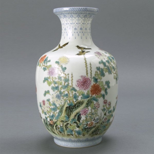 478: Fine Chinese Famille Rose Vase, Republic Period