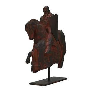 "Miguel Zapata ""Rider on Horseback"" bronze"