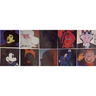 "After Andy Warhol ""Myths"" complete set of 10 color"