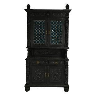 American Renaissance Jacobean Style Horner Buffet