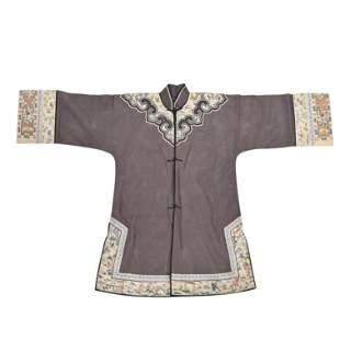 A Gray-Ground Summer Gauze Informal Robe