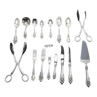 Wallace Sterling Silver Grand Baroque Flatware With