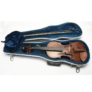 Johann Baptist Schweitzer Labeled Violin with Bow.