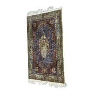 Fine Persian Silk Tree of Life Rug.