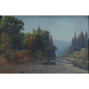 "Charles Dormon Robinson ""Humboldt"" oil on canvas"