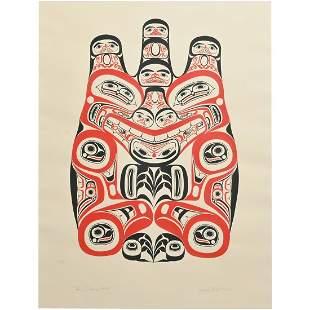 Print, Bill Reid, Haida Grizzly Bear Huaji, 1973