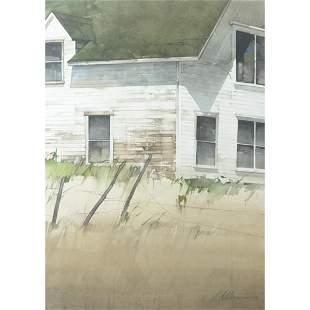 Watercolor, Joseph Alleman, Lake Front