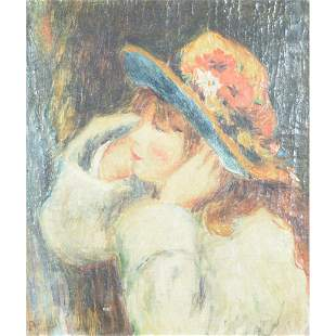 Painting, After Pierre-Auguste Renoir's Young Girl in a