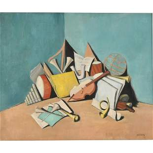 "Albert Bertalan ""Still Life"" oil on canvas"