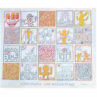 """Keith Haring """"One Man Show 1982"""" offset litho poster"""