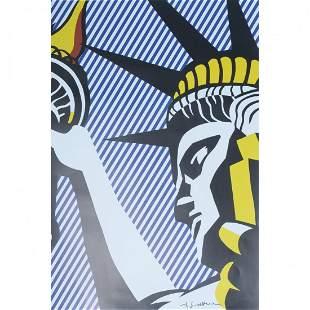 """Roy Lichtenstein """"I love liberty"""" poster"""