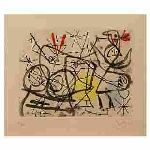 Print, Joan Miro, Preparatits D'Oiseaux I (Bird
