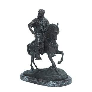 Antoine-Louis Barye, Arab on Horseback, Bronze